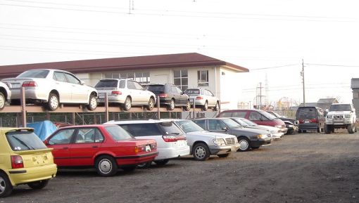 Our salvage cars yard in Japan